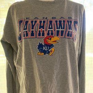 Kansas Jayhawks Gray Long Sleeve
